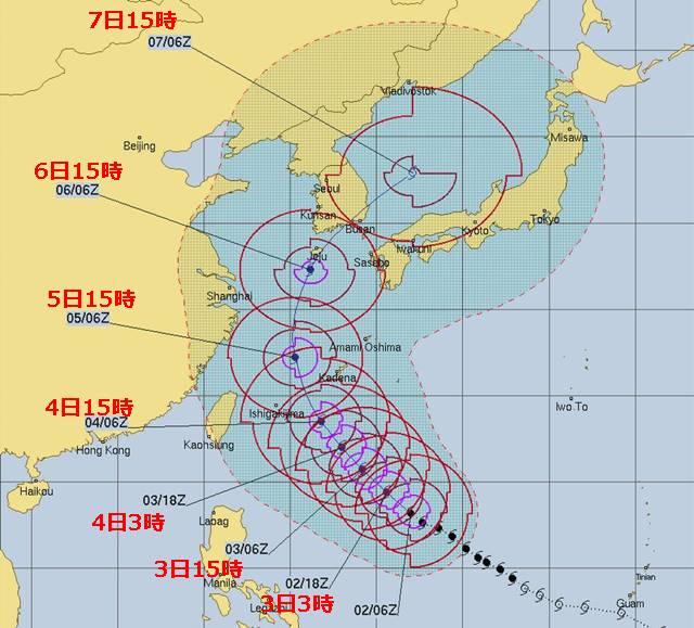 台風25号(2018)最新進路予想!九州(福岡・長崎・佐賀・大分 ...